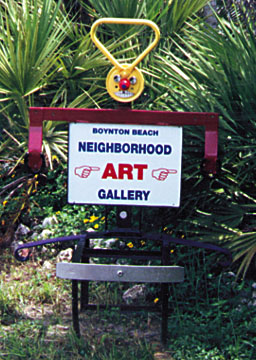Neighborhood Gallery sign marks the trail for you to follow!